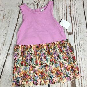 NWT 2T Gap little girl purple floral casual dress
